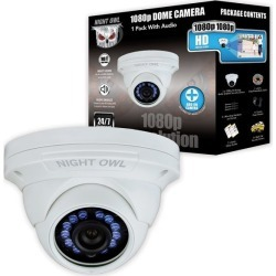 Night Owl Add-On Wired Security Dome Camera 1080p - Audio Enabled found on Bargain Bro India from rcwilley.com for $79.99
