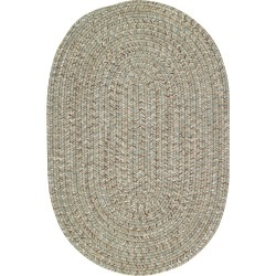 5 x 8 Medium Spa Green Oval Braided Indoor-Outdoor Rug - Sea Glass found on Bargain Bro India from rcwilley.com for $379.00