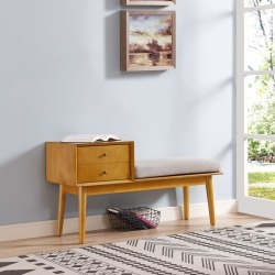 Light Brown Entryway Bench - Landon