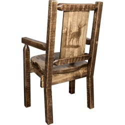 Captain's Dining Room Chair with Laser Engraved Elk - Homestead