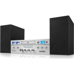 CD Stereo System with Bluetooth - Silver found on Bargain Bro India from rcwilley.com for $99.99