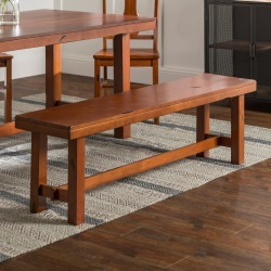 Rustic Brown Dining Bench