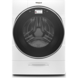 Whirlpool Smart Front Load Washer with Load & Go XL Plus Dispenser.
