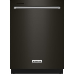 Kitchenaid 24 Inch Dishwasher with Top Controls - Black Stainless.