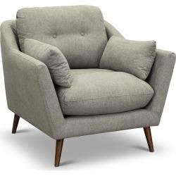Mid Century Modern Gray Chair - Ethan