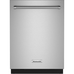 Kitchenaid 24 Inch Dishwasher with Top Controls and Towel Handle.