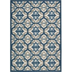 8 x 11 Large Blue, Taupe, and Cream Indoor-Outdoor Rug - Waverly. found on Bargain Bro India from rcwilley.com for $249.99