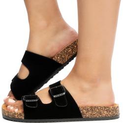 Glory-188 Sandals Black Nubuck