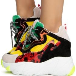 Lime-04 Platform Sneakers Multi