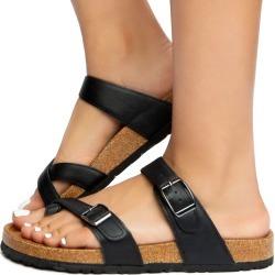 Defeat-25 Sandals Black