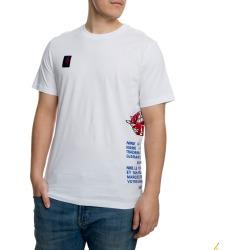 JORDAN SPORTSWEAR AIR JORDAN T-SHIRT WHITE/GAME ROYAL/BLACK