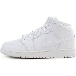 (GS) Air Jordan 1 Mid White/White-White found on MODAPINS from shiekh for USD $89.99