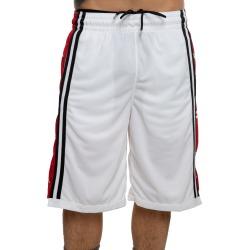 HBR BASKETBALL SHORTS WHITE/GYM RED/BLACK