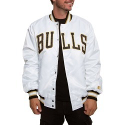 Chicago Bulls Jacket White/Black/Gold