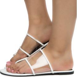 Women's Vega-2 Clear Top Sandals WHITE PT