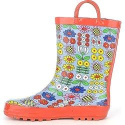 Kids S Rain Boot Orange/Multi Color