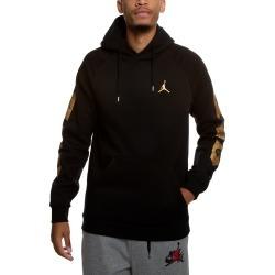 Air Jordan Remastered Pullover Hoodie Black/Metallic Gold