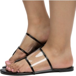 Women's Vega-2 Clear Top Sandals BLACK PT