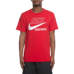 MEN'S NIKE TEE ARCHIVE 3 UNIVERSITY RED/SUMMIT WHITE found on Bargain Bro India from shiekh for $29.99