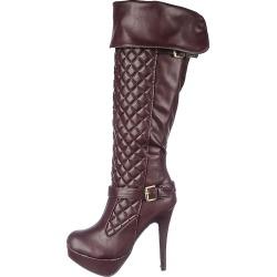Women's High Heel Boot Ericka-65 Burgundy