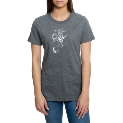 Sportswear Shine Futura Tee Charcoal Heather/Metallic Silver
