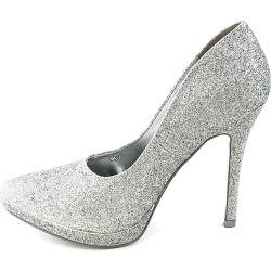 Womens 084 High Heel Pump Silver Glitter