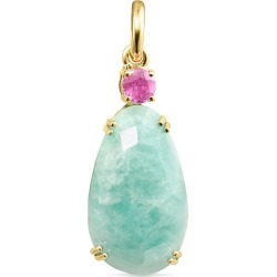 Gold with amazonite and ruby vita pendant