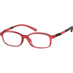 Zenni Kids Sporty Oval Prescription Glasses Red TR Frame found on Bargain Bro India from zennioptical.com for $15.95