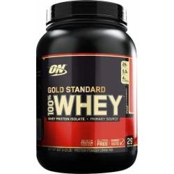 Gold Standard 100% Whey Protein - 910g(2lbs) - Optimum Nutrition - Morango