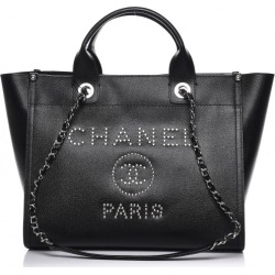 Chanel Deauville Tote Studded Small Black found on Bargain Bro India from StockX Holdings LLC for $5999.00