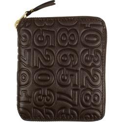 Comme des Garcons SA210ED Wallet Number Embossed Brown
