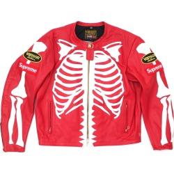 Supreme Vanson Leather Bones Jacket Red