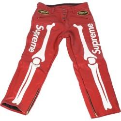 Supreme Vanson Leather Bones Pant Red