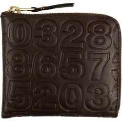 Comme des Garcons SA310ED Wallet Number Embossed Brown