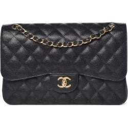 Chanel Classic Double Flap Quilted Caviar Gold-tone Jumbo Black found on Bargain Bro India from StockX Holdings LLC for $5000.00