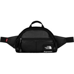 Supreme The North Face Leather Roo II Lumbar Pack Black