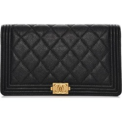 2cb0ff1c74f5 Chanel Boy Yen Wallet Quilted Diamond Black found on MODAPINS from StockX  Holdings LLC for USD