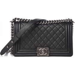 Chanel Boy Flap Quilted Caviar Ruthenium Large Black found on Bargain Bro India from StockX Holdings LLC for $6000.00