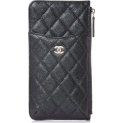 Chanel Classic Flat Wallet Pouch Quilted Caviar Gold-tone Black found on Bargain Bro India from StockX Holdings LLC for $845.00