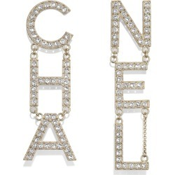 Chanel Diamantes Letter Earrings Gold/Crystal found on Bargain Bro India from StockX Holdings LLC for $1350.00