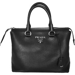 Prada Vitello Phenix Tote Silver Medium Black found on Bargain Bro India from StockX Holdings LLC for $1100.00