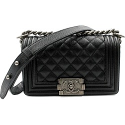 Chanel Boy Quilted Caviar Ruthenium-tone Small Black found on Bargain Bro India from StockX Holdings LLC for $4650.00
