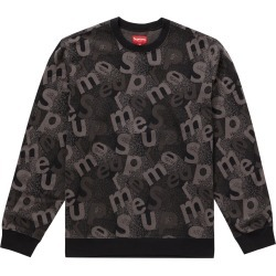 Supreme Scatter Text Crewneck Black found on Bargain Bro India from StockX Holdings LLC for $200.00