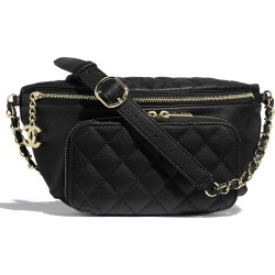 Chanel Waist Bag Quilted Grained Calfskin Gold-tone Black found on Bargain Bro India from StockX Holdings LLC for $3999.00