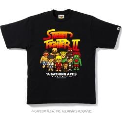 BAPE X Capcom Milo Street Fighter 2 Tee 1 Black