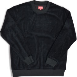 Supreme Velour Crewneck Black found on Bargain Bro India from StockX Holdings LLC for $277.00