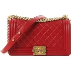 Chanel Boy Flap Quilted Diamond Medium Red found on Bargain Bro India from StockX Holdings LLC for $3800.00