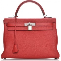 Hermes Kelly Retourne Taurillon Clemence 32 Rouge Casaque found on Bargain Bro India from StockX Holdings LLC for $8200.00