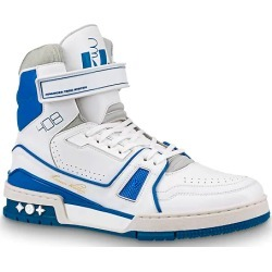 Louis Vuitton LV Trainer Sneaker Boot High White Blue found on Bargain Bro India from StockX Holdings LLC for $1200.00