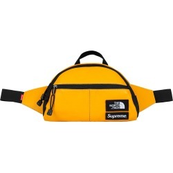 Supreme The North Face Leather Roo II Lumbar Pack Yellow